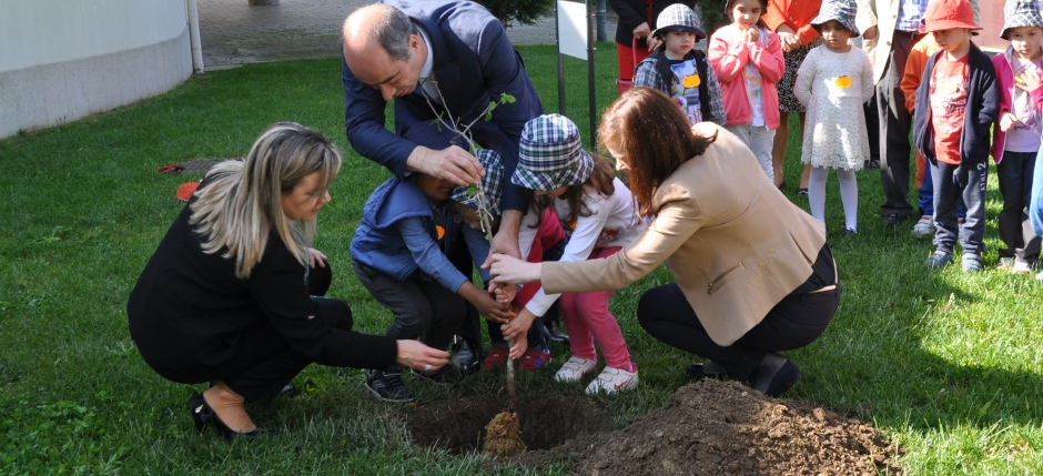 The Child Artist Kaki Tree Project Planting Ceremony